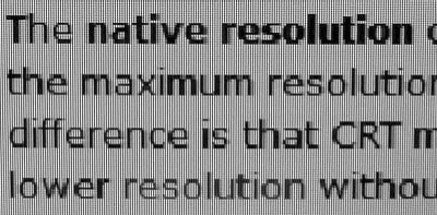 Native Resolution Blurry Text