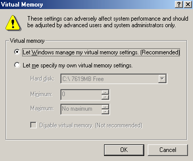 Tweak Windows Me 98 Virtual Memory Settings