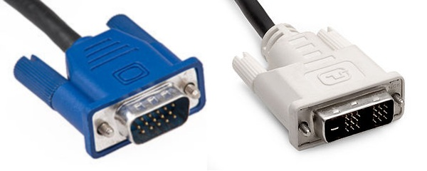 VGA and DVI Connectors