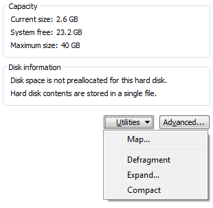 VMware Player Compact Hard Drive