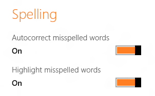 Disable Windows 8 Spell Checking