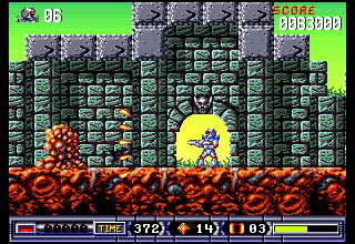 Turrican 2 Game Screenshot