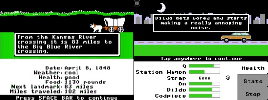 Organ Trail vs Oregon Trail